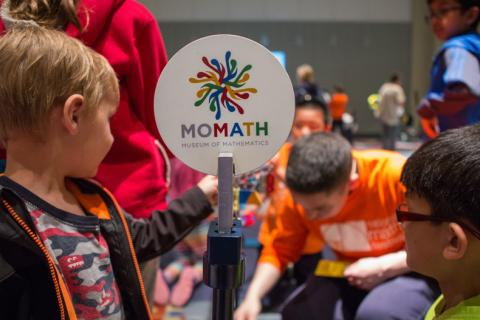 Participants attending the MoMath event